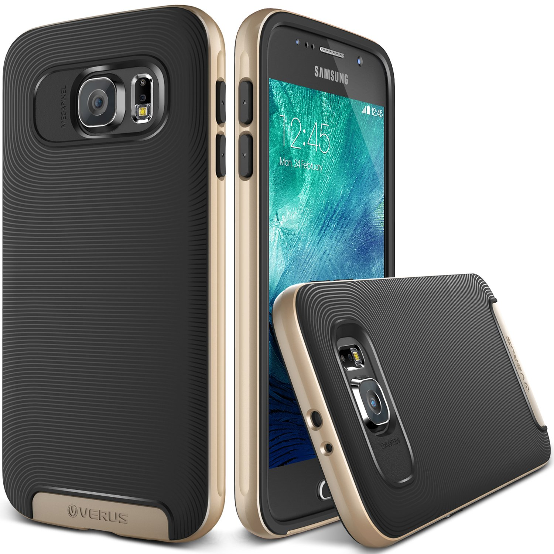 Galaxy S6 Case, Verus (Air Space Cushion) Samsung Galaxy S6 Case (Crucial Bumper)(Shine Gold) Extra Slim Fit Dual Layer Hard Bumper Case - Verizon ..
