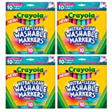 Crayola Ultraclean BL Tropical Markers (40 Count) (Tamaño: 4 pack)