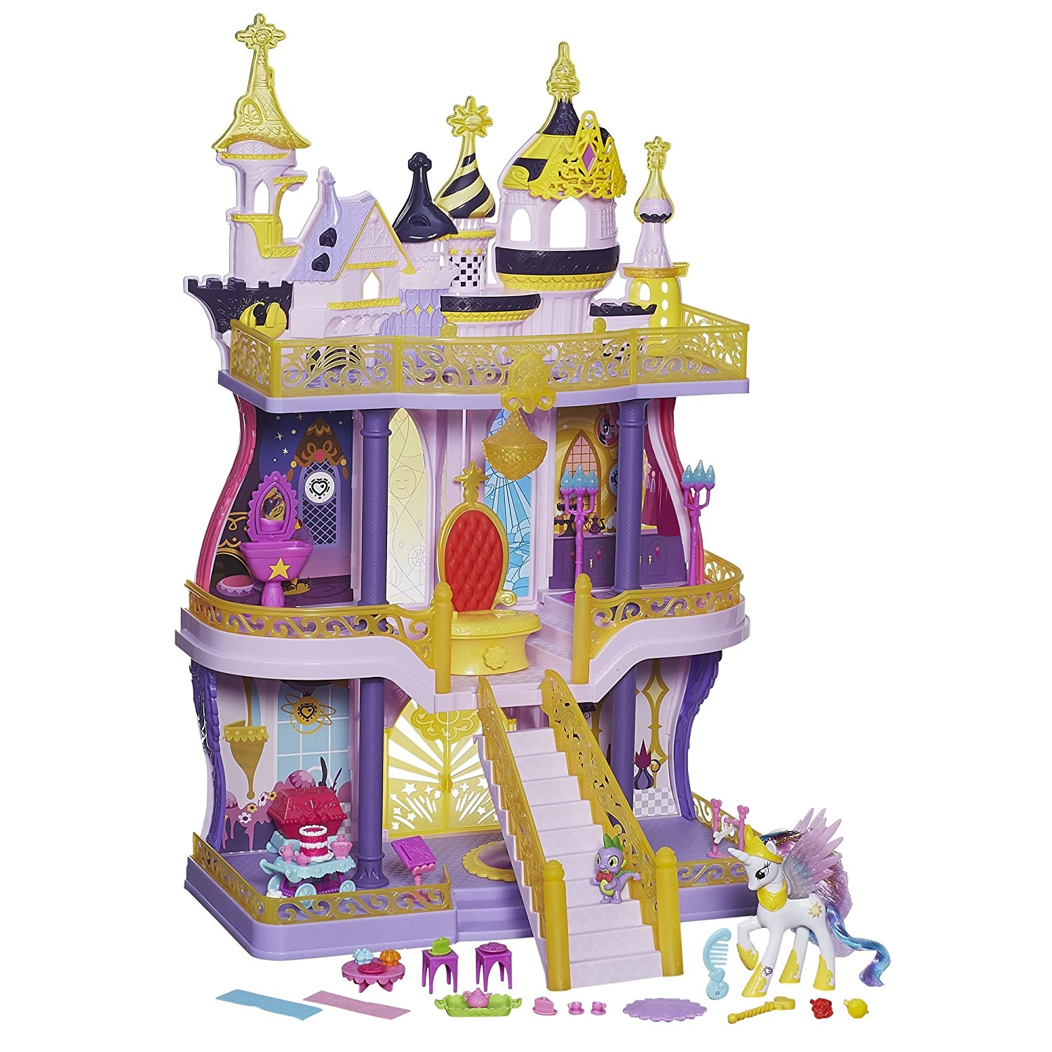 Princess Castle Playset with Pony and Dragon Gift for Girls