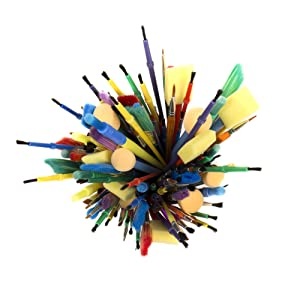 Horizon Group USA Paint Brushes - Assorted Sizes, Set of 500, Assorted (Color: Assorted, Tamaño: 500 Pack)