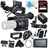 Canon EOS C200 EF Cinema Camera #2215C002 (International Model) + 256GB SDXC Card + Professional 160 LED Video Light Studio Series + Deluxe Cleaning Kit + Microfiber Cloth Bundle (Color: Starter, Tamaño: Body)