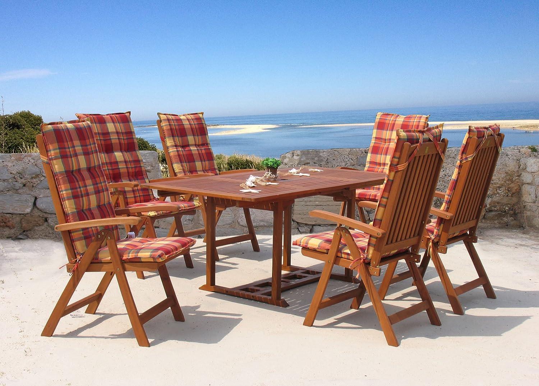 Garten Möbelgruppe Cuba 13tlg Sunshine mit ausziehbaren Tisch jetzt bestellen