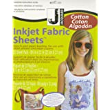 Jacquard Ink Jet Fabric 8.5'' x 11'' Cotton Sheets (10 Pack) (Color: 100% Cotton Percale, Tamaño: 1-Pack)