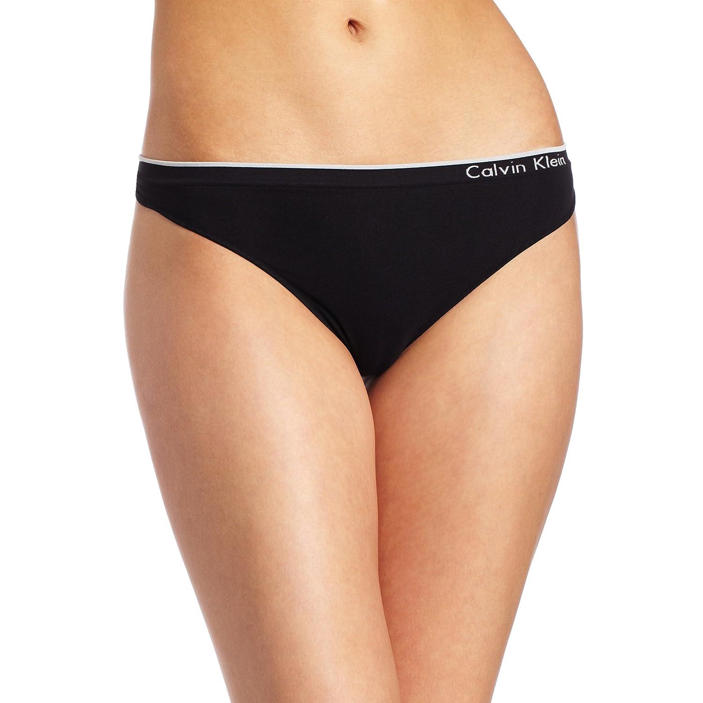 Calvin Klein Women's Seamless Thong Panty calvin klein women s perfectly fit sexy signature bikini panty
