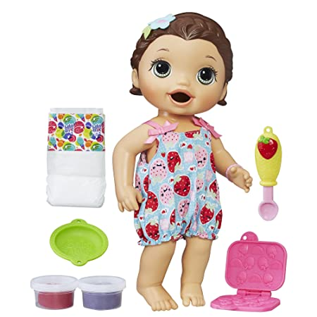 Baby Alive Super Snacks Snackin' Lily Brunette by Baby Alive