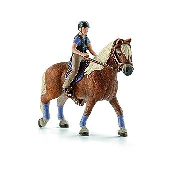 Schleich - 42113 - Figurine Animal - Cavalière Amatrice