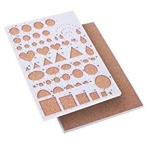 BCP Paper Quilling Mold Mould Template Board, Circle Template Board, Quilling Kits Work Board (Color: white)