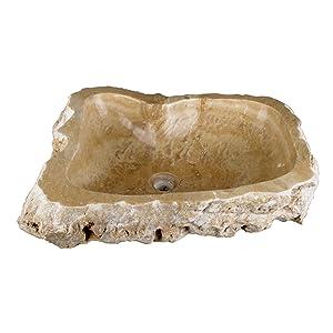 DIVERO Handwaschbecken Aufsatzwaschbecken Naturstein Meran   Kundenbewertung und weitere Informationen