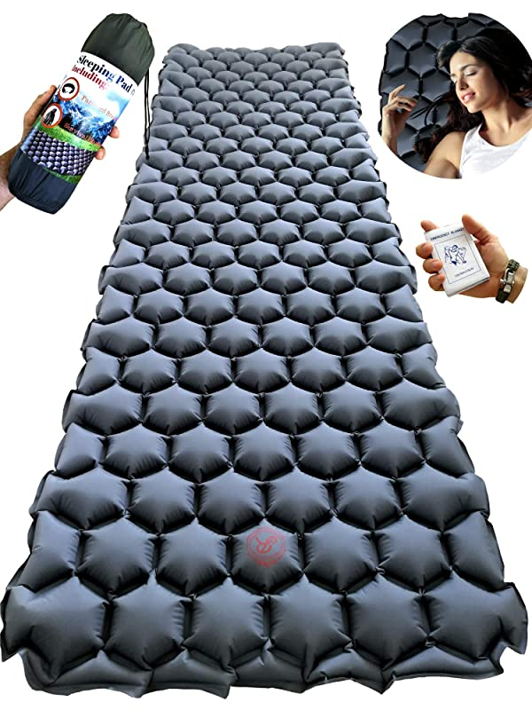 Ultralight Sleeping Mat Space Saving Insulated Inflatable Portable Pad Bed Mat