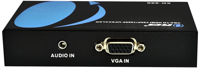 Orei VGA-HDMI VGA Audio to HDMI Video Projector Converter Adapter Box