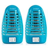 Doset Bug Zapper, Gnat Trap, Mosquito Killer Lamp, Electronic Insect Killer, Mosquito Trap, Eliminates Most Flying Pests, Killing Mosquitoes Night Lamp 2Pack (Blue) (Color: 2Pack (Blue))