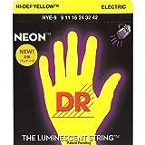 DR Strings NYE-9 Coated Nickel Hi-Def Yellow Electric Guitar Strings, Light