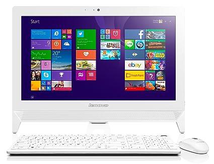 """Lenovo C20-00 Ordinateur de bureau Tout-en-Un Non tactile 20"""" (50,80 cm) Blanc (Intel Celeron, 4 Go de RAM, 1 To, Intel HD Graphics)"""