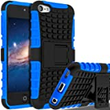 SLMY zting18 iPod Touch 6 Case,iPod Touch 5 Case, (TM) Heavy Duty Dual Layer Shockproof/Impact Resistance Hybrid Rugged Cover Case with Built-in Kickstand for Apple iPod Touch 5 6th Generation Blue (Color: Blue)