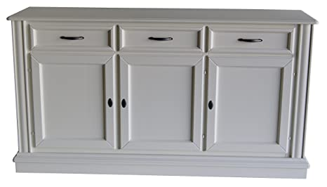 Mia Casa - Dress up your HOME French Connections Louis Sideboard with Drawers and Shelves, Wood, White