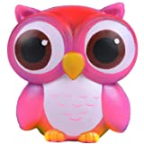 AOLIGE Squishies Slow Rising Jumbo Kawaii Cute Colorful Owl Creamy Scent for Kids Party Toys Stress Reliever Toy