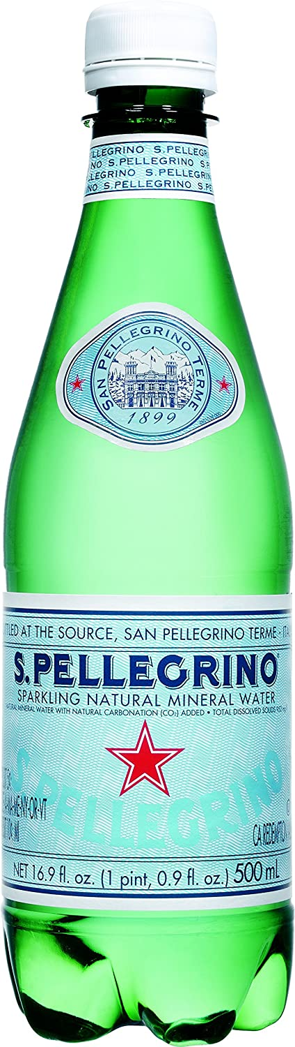 San Pellegrino Sparkling Natural Mineral Water, 16.9 Fluid Ounce (Pack of 6)
