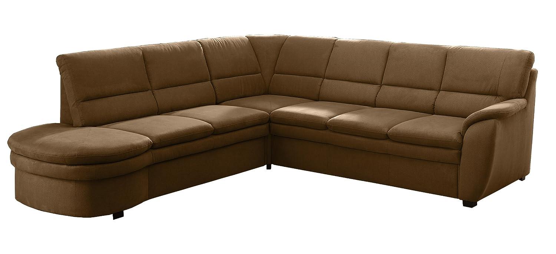 Polsterecke Gingle/2er Abschlussottomane mit Schubkasten-Spitzecke mit Relaxfunktion-3er Bett/260x89x240 cm/Toro braun bestellen