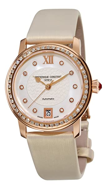 Frederique Constant Women's FC-303WHD2PD4 Ladies Automatic Mother-Of-Pearl Diamond Dial Watch
