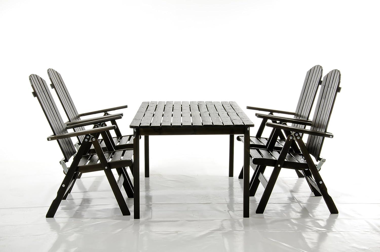 5-teiliges Set Sitzgruppe STRANDA Essgruppe Taupegrau Tisch eckig ca. 160×90 cm jetzt bestellen