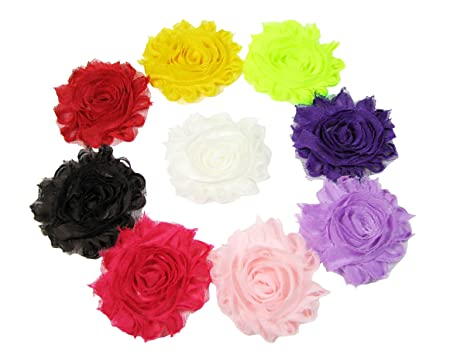 shabby flower embelishment silk artificial hair