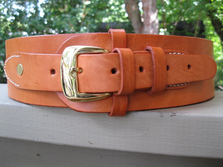 Genuine Leather Gun Belt, Natural genuine leather