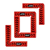 Positioning Squares, Woodworking Tool, Clamping 90 Degree Angles for Picture Frames, Boxes, Cabinets or Drawers (Set of 4) 6-Inch by TOFL (Color: Red, Tamaño: 6 Inch)