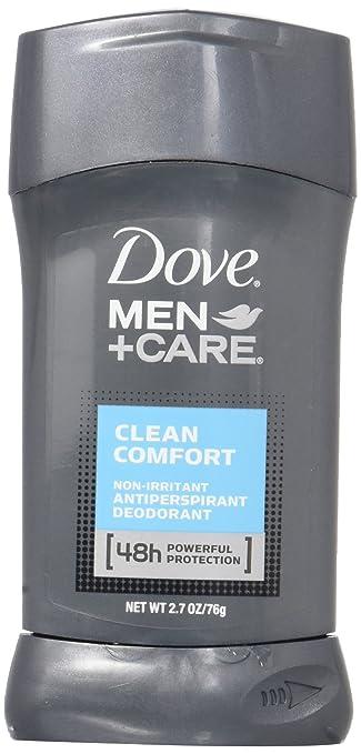 Dove Men Plus Care NonIrritant Antiperspirant, Clean Comfort, 2.7 Ounce at amazon