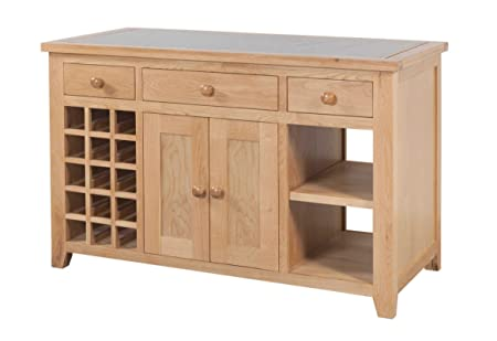 Devonshire Oak Granite Kitchen Island Solid Oak Fully Assembled