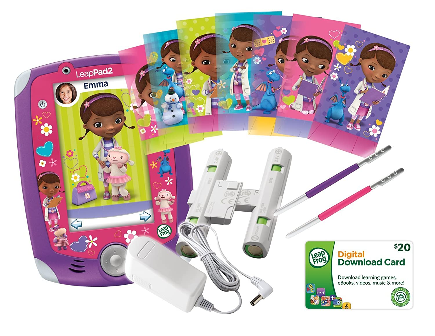LeapFrog LeapPad2 Power – Disney Junior Doc McStuffins Bundle $64.00