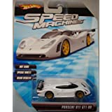 Hot Wheels Speed Machines Porsche 911 GT1-98 (Color: White, Tamaño: 1:64 Scale ~ 3