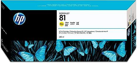 HP N°81 Cartouche d'encre d'origine Jaune C4933A