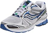Saucony Women's Pro Grid Guide 5 Running Shoe,White/Silver/Blue,9.5 M US