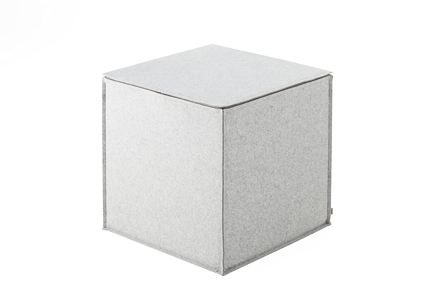 filz cubus sitzw rfel hocker sitzhocker pouf hell grau 45 x 45 x 45 ebay. Black Bedroom Furniture Sets. Home Design Ideas