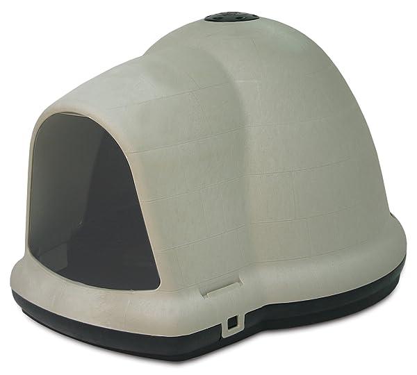 Petmate Dogloo with Microban, 90-125 lb, Taupe/Black (Color: Taupe/Black, Tamaño: 90-125 lb)