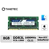 Timetec Hynix IC Apple 8GB DDR3L 1600MHz PC3L-12800 SODIMM Memory upgrade For MacBook Pro 13-inch/15-inch Mid 2012, iMac 21.5-inch Late 2012/ Early/Late 2013 (8GB) (Tamaño: 8GB)