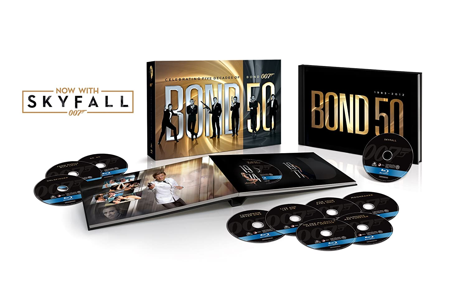 Bond 50: The Complete 23 Film Collection with Skyfall [Blu-ray] 	$139.99