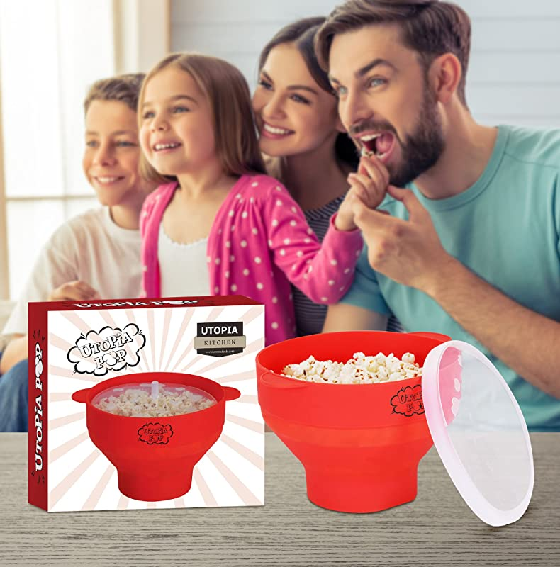 Utopia Kitchen: Quick & Easy Silicone Popcorn Popper via Amazon