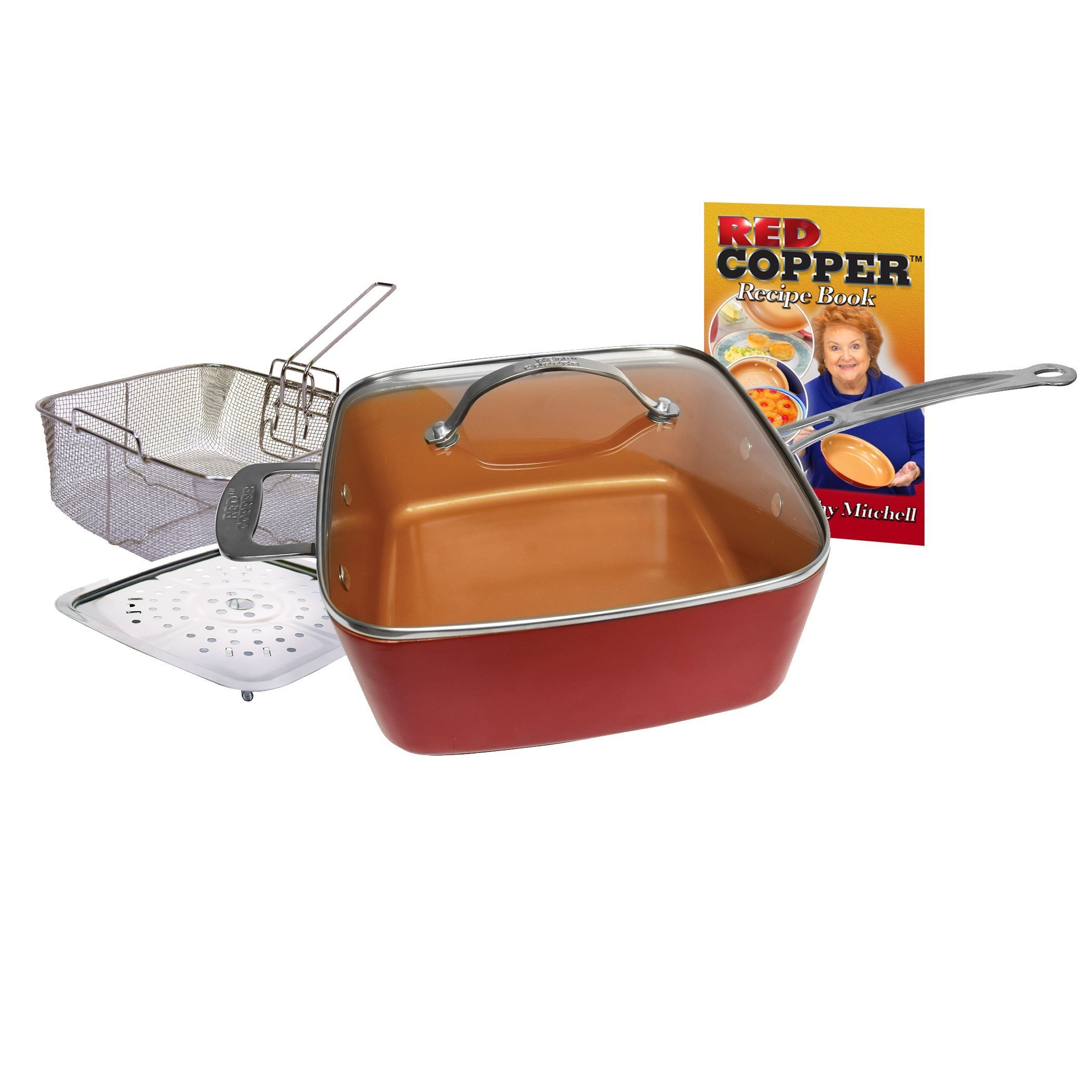 Red Copper Ceramic Cookware