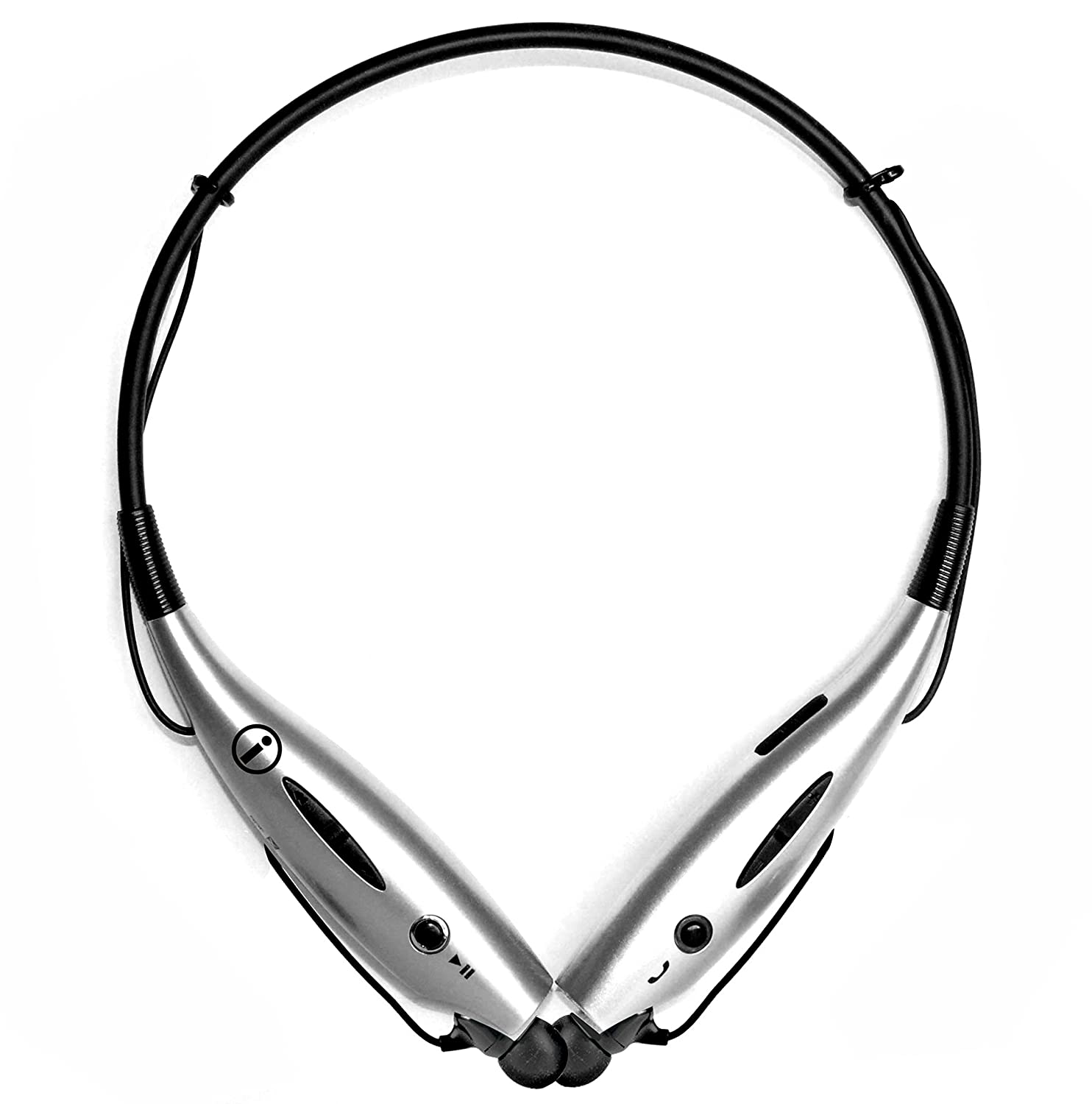 Universal Bluetooth Neckband Headphones S Gear -7000 Wireless Headset Sweatproof Running Gym Exercise Stereo Earphones Noise Cancelling Earbuds Cordless Silver