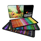 ? 120 Colored Pencils Set, Numbered, with Metal Box - 120 Coloring Pencils for Adult Coloring Books - Colored Pencils for Adults and for Kids, Gift for Artists - Color Pencil Set, School Art Supplies (Tamaño: 120 Colors)