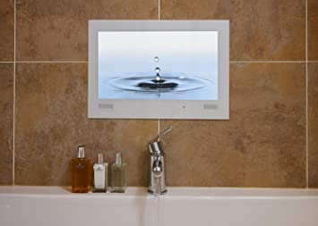 WaterVue 19 pouces Salle de bain TV blanc