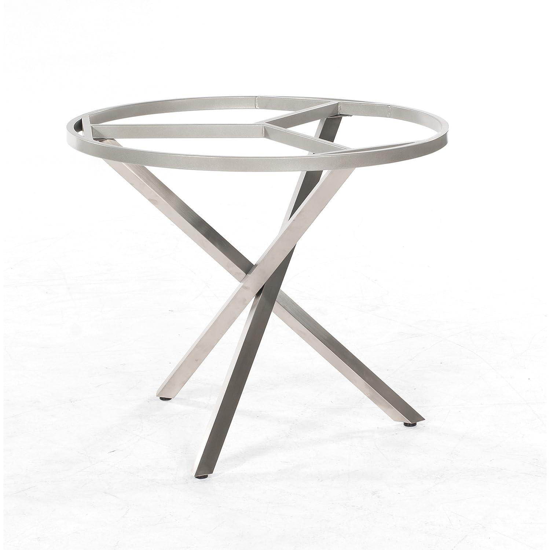 Sonnenpartner Tisch System Base rund Ø 100 cm Edelstahl Platte Keramikoptik günstig online kaufen