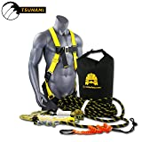 KwikSafety (Charlotte, NC) TSUNAMI Kit Vertical Lifeline Assembly 50 ft. Rope Snap hook Integrated Shock Absorber Dry Bag for Gear/Equipment | ANSI OSHA Personal roofing Fall Protection Arrest System (Color: Harness + Lifeline Rope + Dry Bag + Tool Lanyard, Tamaño: ULTRA KIT (save $60))