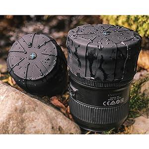 KUVRD - Original Universal Lens Cap - Fits 99% DSLR Lenses, Element Proof, Lifetime Coverage, 4-Pack (Color: Black, Tamaño: 4-Pack)