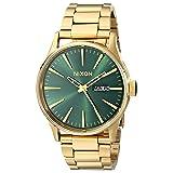 Nixon Sentry SS A3561919-00. Gold/Green Sunray Men's Watch (42mm Gold/Green Sunray Watch Case. 23-20mm Gold Band) (Color: Gold-Tone/Green Sunray, Tamaño: One Size)