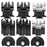 Oscillating Saw Blades 23 Professional Metal Wood Multitool Blades Quick Release Cutting Blade Fit Porter Cable Craftsman Fein Multimaster Ridgid Rockwell Milwaukee Chicago Milwa (Color: Black, Tamaño: Standard)