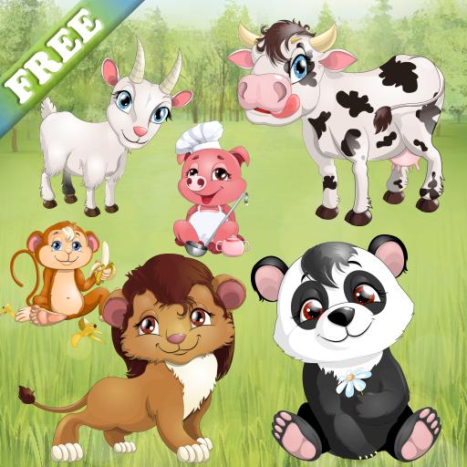 animaux pour petits et enfants jeux de puzzle avec des animaux domestiques et les animaux. Black Bedroom Furniture Sets. Home Design Ideas
