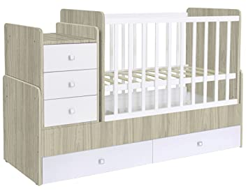POLINI Kids – Lettino da bambino combinato Simple 1100 con cassettiera