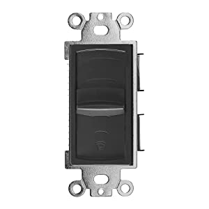 OSD Audio 100W In-Wall Home Theater Speaker Slider - Volume Control Switch, VMS100 (Black) (Color: Black, Tamaño: 100-Watts)